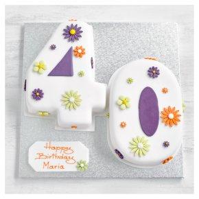 40th Birthday flowers cake