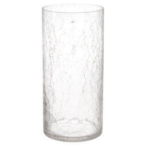 Waitrose Crackle Cylinder Vase
