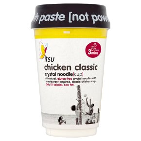 Itsu chicken classic crystal noodle cup
