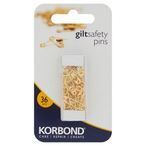 Korbond 36 Gilt Safety Pins