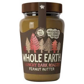 Whole Earth Crunchy Dark Roasted Peanut Butter