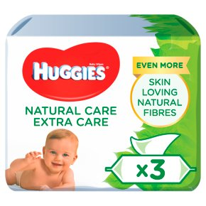 Huggies Baby Wipes Extra Care Natural