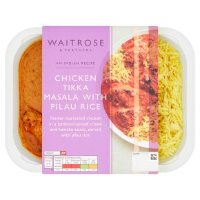 Waitrose Indian Chicken Tikka Masala & Pilau Rice