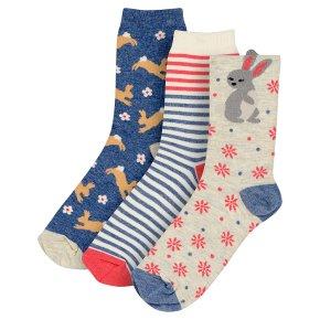 Waitrose Cotton Rich Rabbit Ankle Socks