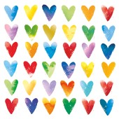 Greeting cards waitrose multi coloured heart blank card m4hsunfo