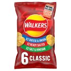 Walkers classic variety multipack crisps - 6x25g