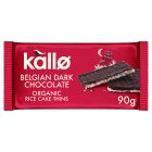 Kallo dark chocolate organic rice cake thins - 90g
