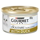 Gourmet Solitaire Tinned Cat Food With Duck - 85g