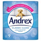 Andrex Classic White Toilet Rolls - 9s Extra Value