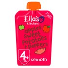 Ella's Kitchen Organic red peppers sweet potatoes and apples - stage 1 baby food - 120g