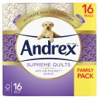 Andrex Supreme Quilts - 16x160 sheets