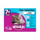 WHISKAS 7+ Senior Cat Pouches Fish Selection in Jelly 12 x 100g - 12x100g