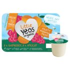 Little Yeos Organic Raspberry & Apricot kids fromage frais yogurts - 6x45g