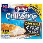 Young's Chip Shop 4 Large Omega 3 Fish Fillets - 480g